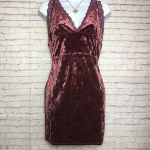 Free People Intimately Viper Velvet Chemise Dress